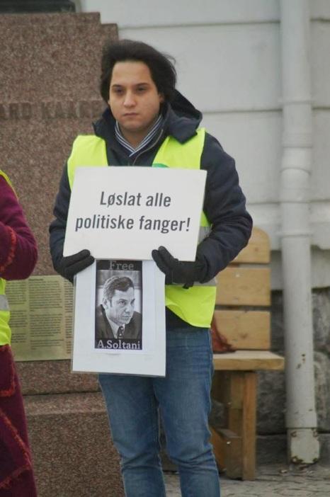 601132 10202527734743774 1343288188 n تجمع اعتراضی حمایتی برای عبدالفتاح سلطانی در شهر هارشتاد نروژ